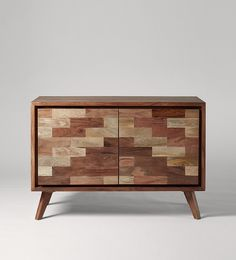 Swoon Editions Console table, industrial style in mango wood - £349