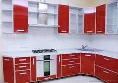 Image Detail For Pictures Of Kitchens Modern Red Kitchen Cabinets Page Design Ideas