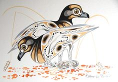 Killdeer (Set of 3) by Eddy Cobiness - Woodlands Art Original - Red Kettle Art And Collectibles