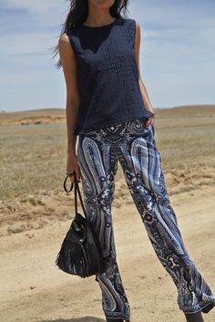 A beautiful printed pant is a must-have