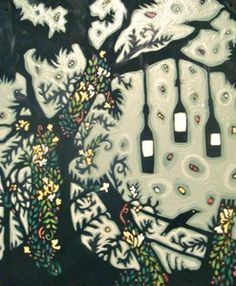 """I would absolutely cover my walls with Bethanne Hill's """"bottle-tree"""" paintings if I could.  Rural-Southern, fantastical, and vaguely, but pleasantly, dark all at the same time."""