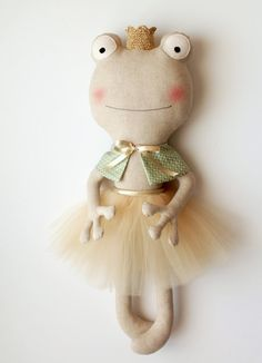 MADE TO ORDER The frog princess. Ballerina doll. Stuffed