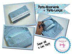 Porta absorvente e porta lenço em um só -- origami em tecido -- PAP em vídeo