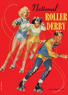 National Roller Derby official program c 1950 by cheeseboyproducts