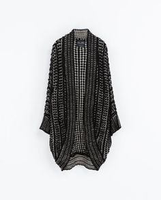 Looks warm! JACQUARD WRAP-AROUND CARDIGAN from Zara