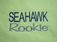 NEW SEAHAWK ROOKIE HANDMADE BABY BURP CLOTH on Grandma Fabric