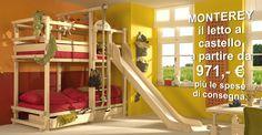 Mobili per bambini, letto a soppalco, letto a castello