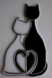 pattern for a stained glass cat - Google Search