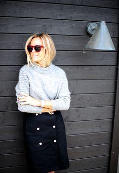 //Sweater Tiger of Sweden//Skirt Filippa K//