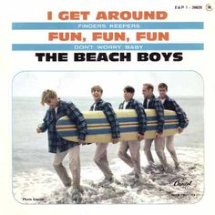 1964, The Beach Boys started a two week run at No.1 on the US singles chart with 'I Get Around', the group's first No.1, which was a No.7 hit in the UK. It is noteworthy for its back-to-front structure—it starts with a chorus and has two short verses.