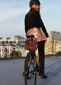 bikepretty, bike pretty, cycle style, cycle chic, bike model, bike fashion, cute bike, bike in a skirt, girls on bikes, girl on a bike, bike in a skirt, DIY, fashion how to, copper