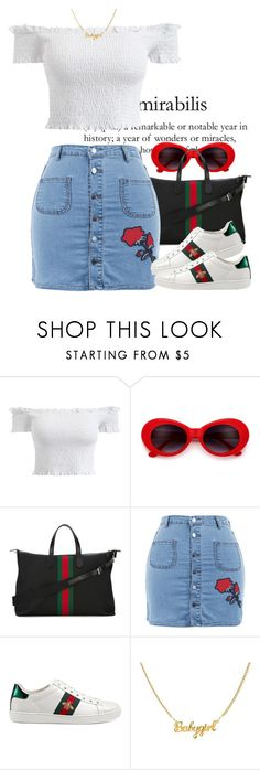 """""""Gucci This, Gucci That"""" by urban-stylefashion ❤ liked on Polyvore featuring Gucci"""