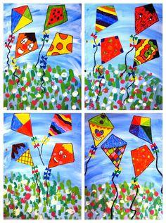 Float of estels this is the second album cover of the students of 3 Kindergarten Art, Preschool Art, Art 2nd Grade, Classe D'art, Spring Art Projects, Art Lessons Elementary, Elementary Education, Collaborative Art, Art Classroom