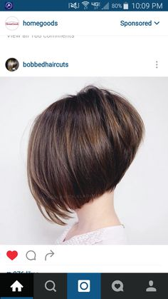 Angled Bob Haircuts, Inverted Bob Hairstyles, Short Hairstyles For Thick Hair, Short Hair Cuts, Curly Hair Styles, Bob Haircut For Fine Hair, Pixie Haircut, Hair Junkie, Hair Highlights