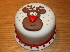 "Cool. ""Rudolph"" Christmas cake. Who gets to eat the nose?"