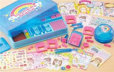 big DIY stamp set people and faces from Japan