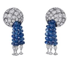 CARTIER, sortilège diamond and sapphire bead earrings... love the movement1
