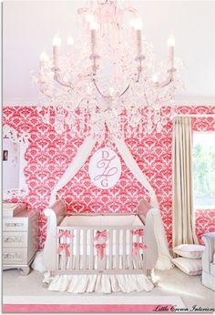 Princess Nursery..featuring bratt decor's chelsea collection in antique silver brattdecor.com