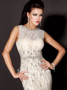 Image result for black dress with champagne mesh