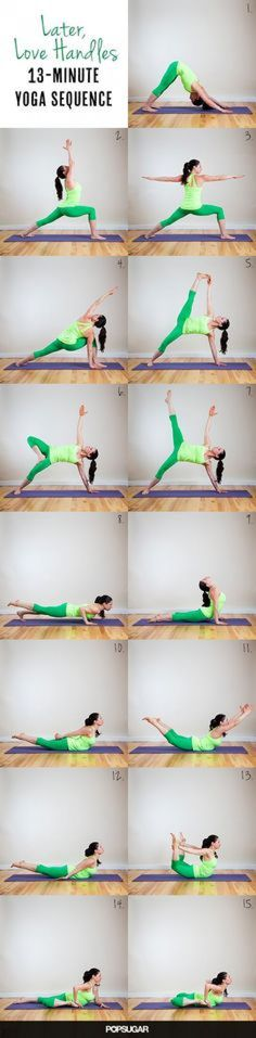 13 Minute Yoga Workout to Trim Down Your Tummy. Say goodbye to your love handles by doing these yoga poses. Yoga Fitness, Sport Fitness, Fitness Tips, Fitness Motivation, Health Fitness, Daily Motivation, Workout Fitness, Fitness Shirts, Bikini Fitness