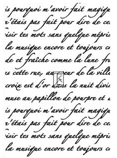 French Script Clear Stamp Texture by tonjastreasures on Etsy Vintage Labels, Vintage Ephemera, Vintage Paper, French Typography, Vintage Lettering, French Script, Digi Stamps, Printable Paper, Clear Stamps