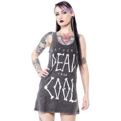 DISTURBIA DEAD COOL TANK DRESS