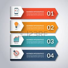 minimal colorful numbered banners for diagram graph presentation chart step options web design . 4 steps parts options. Design Web, Chart Design, Graphic Design, Infographic Template Powerpoint, Powerpoint Design Templates, Background Powerpoint, Vector Background, Brochure Design, Branding Design