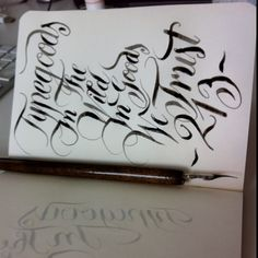 Practicing #calligraphy