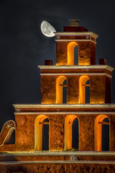 The Red Pyramid . Beautiful Moon, Beautiful Places, Amazing Places, Merida Yucatan Mexico, Places Around The World, Around The Worlds, Shoot The Moon, Moon Lovers, Central America