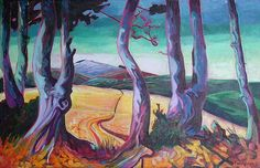 Landscape Paintings and photographs Picture Description sue fawthrop Running In The Rain, Landscape Paintings, Landscapes, Abstract Styles, Oeuvre D'art, Amazing Photography, Les Oeuvres, Around The Worlds, Sketches