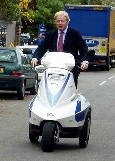 London Mayor Boris Johnson taking a Raptor for a quick spin