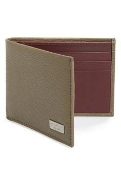 6ad7f27400ba Salvatore Ferragamo 'Revival' Bifold Wallet available at #Nordstrom Book  Maker, Leather Art