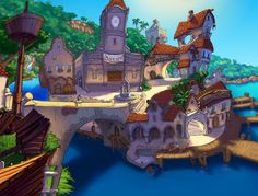 The Curse of Monkey Island - Puerto Poyo