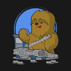 Check out this awesome 'Chewie+at+Play' design on @TeePublic!
