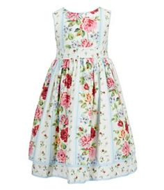 Laura Ashley London 2T-6X Sleeveless Floral Print Dress