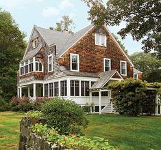 Tour This Colorful, Historic Maine Beach Cottage - Coastal Living Beach Cottage Decor, Coastal Cottage, Coastal Homes, Coastal Decor, Cottage Ideas, Coastal Style, Coastal Living, Beach Cottage Exterior, Cottage Porch