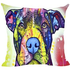 Pitbull Series III Pillow Covers - Dean Russo Art