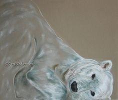 Arctic Frolic Polar Bear Art By Cori Solomon, painting by artist Art Helping Animals