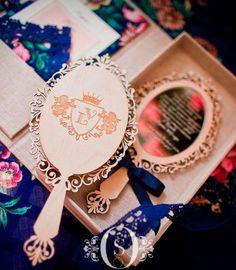 Convite debutante caixa e espelho Festa 15 anos