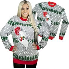 (affiliate link) UGLY CHRISTMAS SWEATER: UNICORN RUDOLPH
