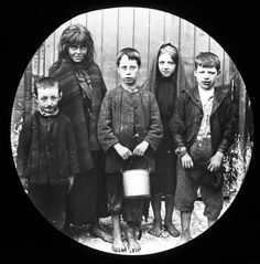Child poverty in Belfast, Northern Ireland early 1900s