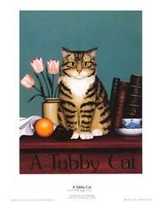 Susan Powers Tabby Cat Open Edition