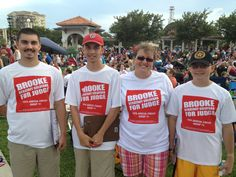 Team Otranto working the crowd on behalf of Brooke for Judge on July 4th in Cocoa Village