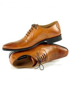Loake Men's Gunny Brogue Shoes - Tan. Beautifully handmade.