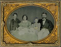 Wealthy Southern Plantation Family Half Plate Ambrotype not Daguerreotype | eBay