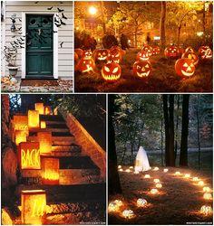 halloween outdoor wedding ideas | Outdoor Halloween Decor and Pumpkins
