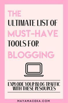 The Ultimate Toolkit for Bloggers | A list of valuable and free resources for bloggers. Including the cheapest blog hosting, Wordpress plugins, high paying affiliates, graphic design tools, email marketing and social media hacks! It's all here and free to access. Click through for more!