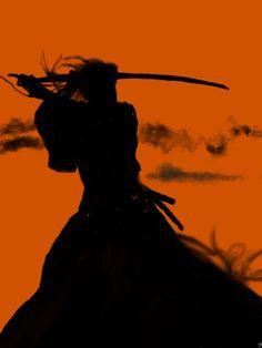 Perfect idea, a little silhouette on the wrist or neck. 侍 Samurai City // Silhouette of a warrior Ronin Samurai, Samurai Champloo, Samurai Art, Samurai Warrior, Samurai Drawing, Japanese Culture, Japanese Art, Japanese Dragon, Samourai Tattoo
