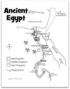 great (and free) ancient history printables- use for flip book Ancient Egypt Lessons, Ancient Civilizations Lessons, Ancient Egypt Activities, Ancient Aliens, Ancient World History, History Of Egypt, Art History, Egypt Map, Middle School History