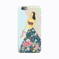 Beautiful Lady Flower Floral Hard Case Apple iPhone 4 4S 5 5S 5c SE 6 6s 7 plus #Apple